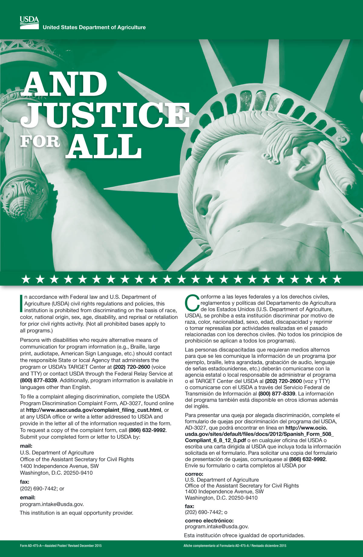 New And Justice for All Poster