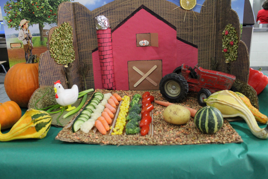 Food art farm at Coppell ISD for 2015 National School Lunch Week