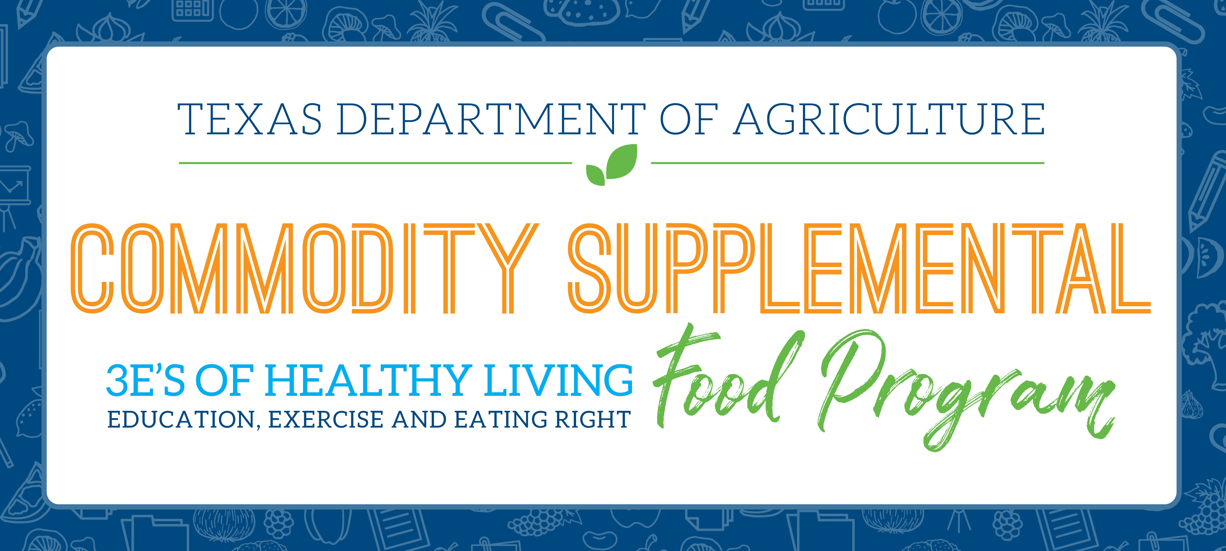 Commodity Supplemental Food Program Banner