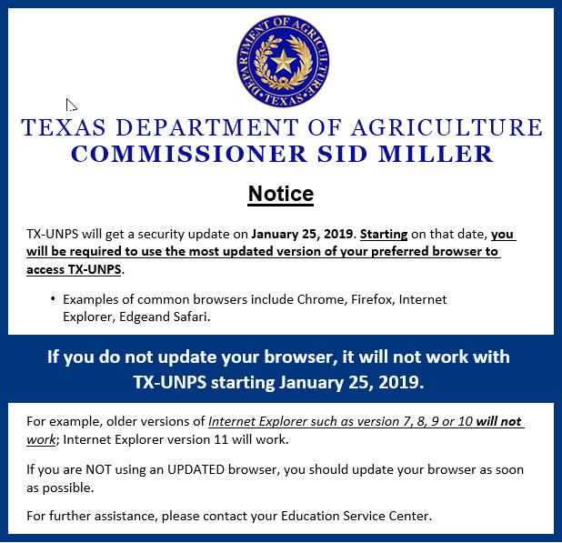 TX-UNPS Security Update Notice