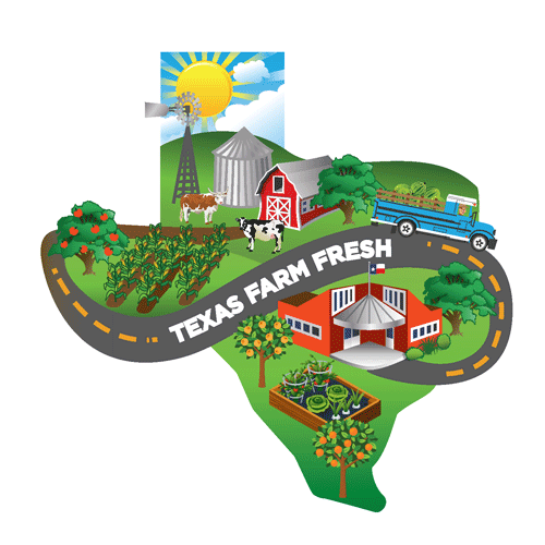 Map of Texas Farm Fresh