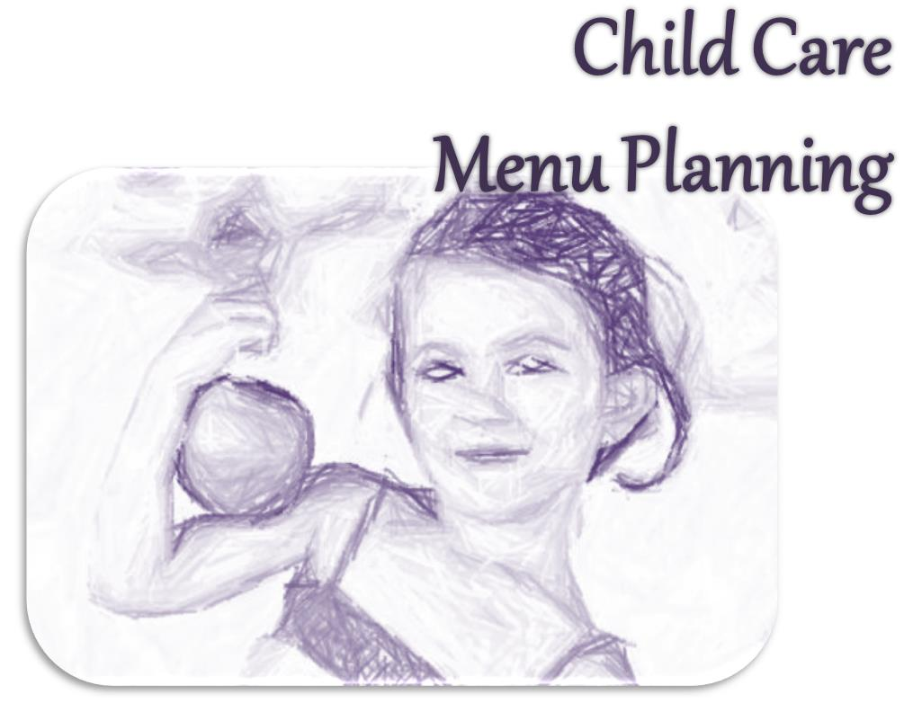 associateive imagery for child care menu planning