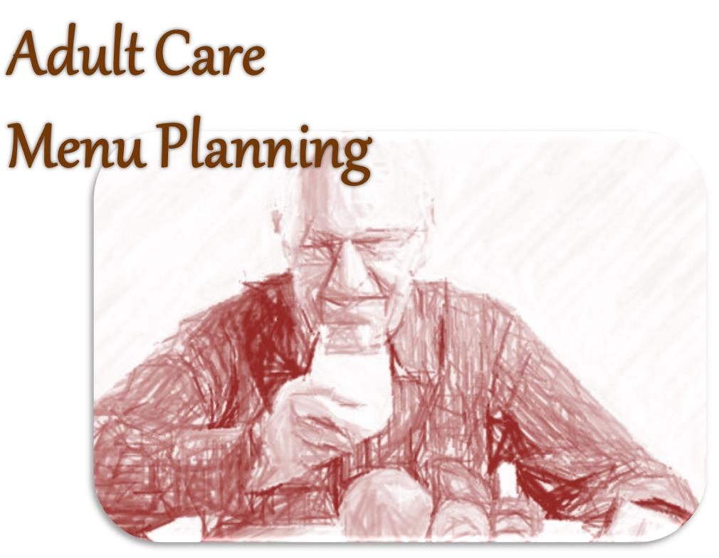 artwork for adult care menu